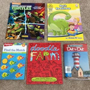 Other - Bundle of 5 coloring/activity books